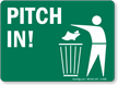 Pitch In Sign