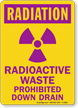 Radiation Radioactive Waste Prohibited Sign