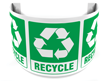 180 Degree Projecting Recycle Sign with graphic