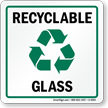 Recycle Glass Label (with graphic)