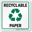 Recycle Paper Label (with graphic)
