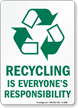 Recycling Is Responsibility Sign