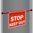 Stop Keep Out Door Barricade Sign