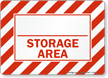 Storage Area Sign