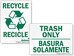 Bilingual Recycle Labels