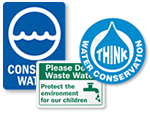 Conserve Water Labels