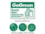 Go Green Signs and Labels