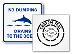 Drains to Ocean Sign