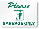 Garbage Signs
