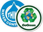 GoGreen™ Hard Hat Stickers
