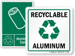 Recycle Aluminum Cans Signs