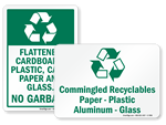 Recycle Plastic Signs and Labels