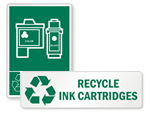 Recycle Print Cartridges and Toner Signs