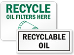 Recycled Oil Signs