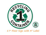 Recycling Bin ID Signs