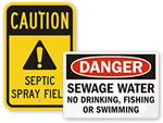 Sewage Signs
