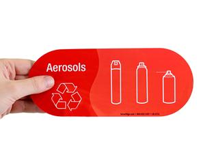 Aerosol recyling label