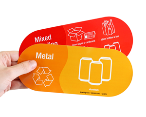 Aluminum can recyling labels