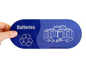Battery recycle label