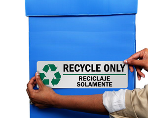Bilingual Recycle Only Label