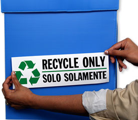 Bilingual Recycle Signs & Labels