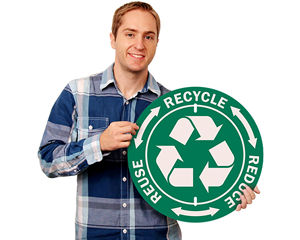 Circular Recycle Signs