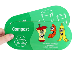 Compost stickers
