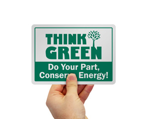 Energy Conservation Think Green Label