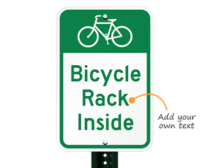 Custom bicycle parking sign