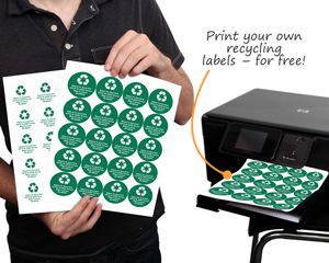 Print custom recycle signs and labels