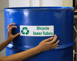 Custom recycling labels
