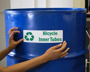Custom recycling labels