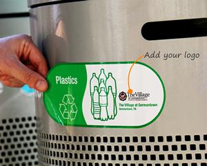 Custom recycling sticker