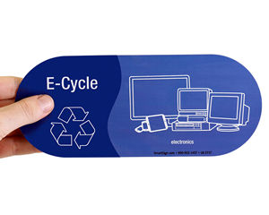 E-waste recycling labels