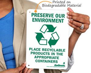GoGreen™ Biodegradable Signs