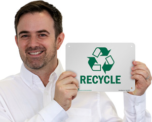 GoGreen Recycling Sign
