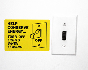 Conserve Energy Signs