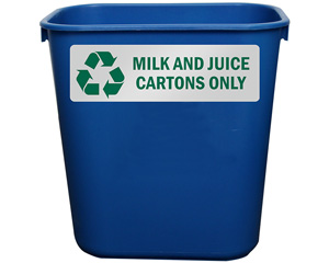 Milk and Juice Cartoons Only Label