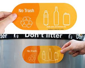No trash labels