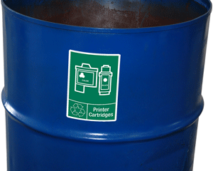 Printer cartridges recycling labels
