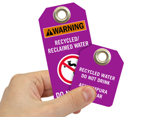 Reclaimed Water Tags