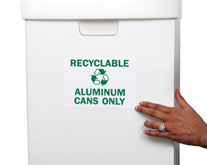 Recyclable Aluminum Cans Only Label