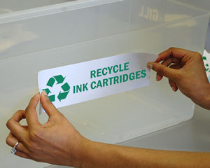 Recycle ink cartridges stickers