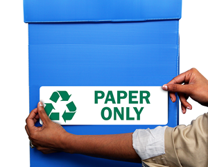 Recycle Label Paper Only with Recycle Graphic