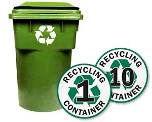 Recycling Bin ID Signs