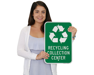 Recycling Collection Center Signs