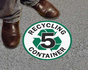 Recycling Floor Sign Label Kit