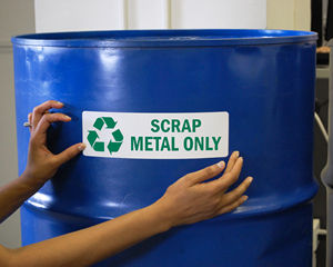 Scrap metal only label