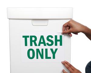 Trash Only Litter Sign