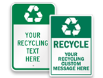 Custom Recycling Signs